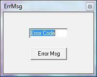 quadrato girgio con casella con scritto error msg