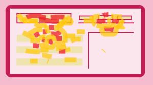 disegno di una move map che mostra le aree a colori caldi
