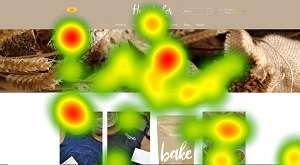 Mappa di calore della home page del sito homebaker ottenuta con eye-tracker